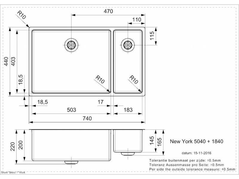 Reginox R27837 New York spoelbak