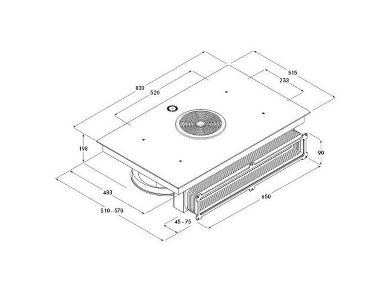 BORA BFIU inductie-kookplaat met afzuiging