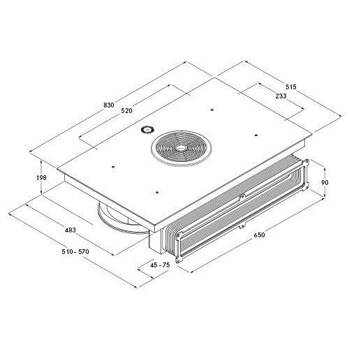 bora bfiu inductie kookplaat met afzuiging veldkamp witgoed keukenapparatuur scherpe. Black Bedroom Furniture Sets. Home Design Ideas
