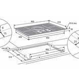 Atag HI9271SVI inductie-kookplaat 90cm (vlakinbouw)
