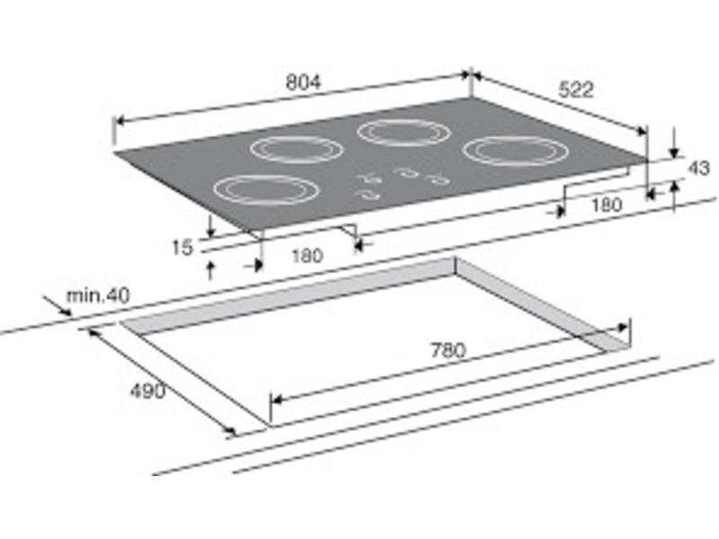 Atag HI8271S inductie-kookplaat 80cm