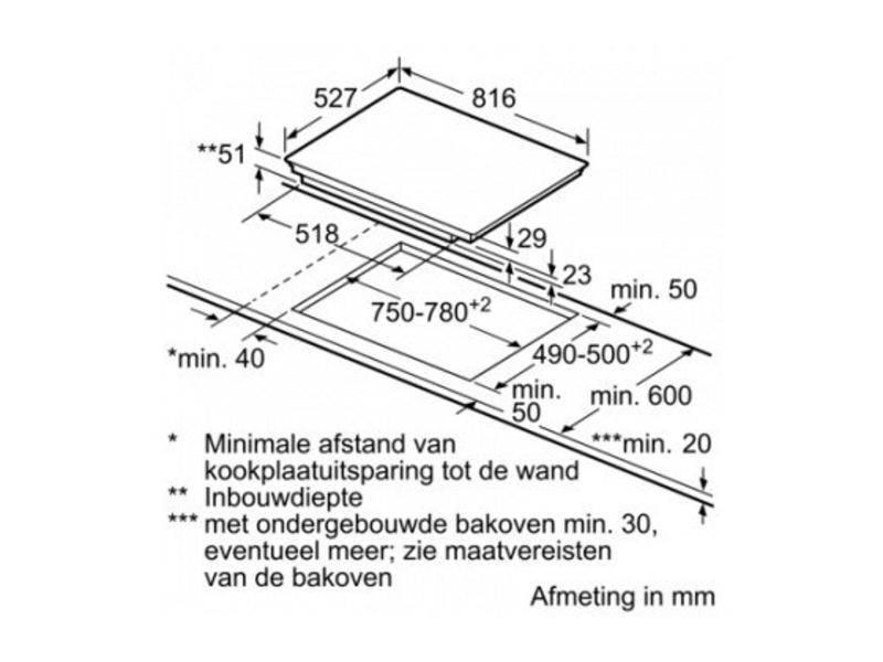Bosch PXV875DC1E inductie kookplaat 80 cm