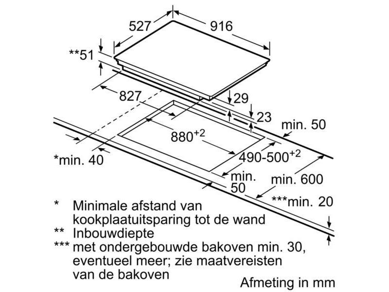 Bosch PIV975DC1E inductie kookplaat 90 cm