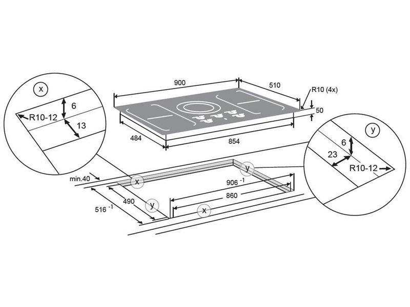 Atag HI9272SVI inductie kookplaat 90cm