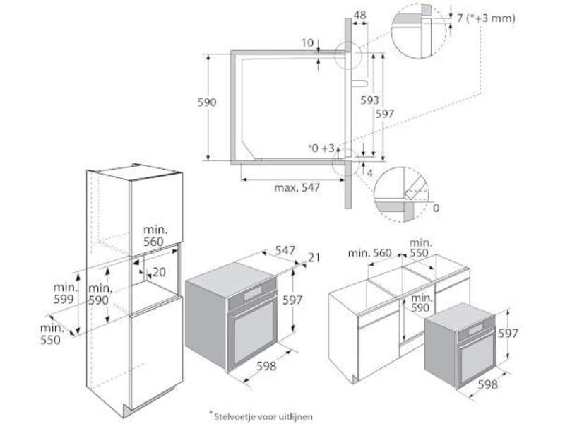 Atag ZX6674M Multifunctionele oven met pyrolyse schoonmaaksysteem en TFT touchscreen