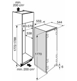 Atag KD80178AFN  inbouw koelkast  178 cm