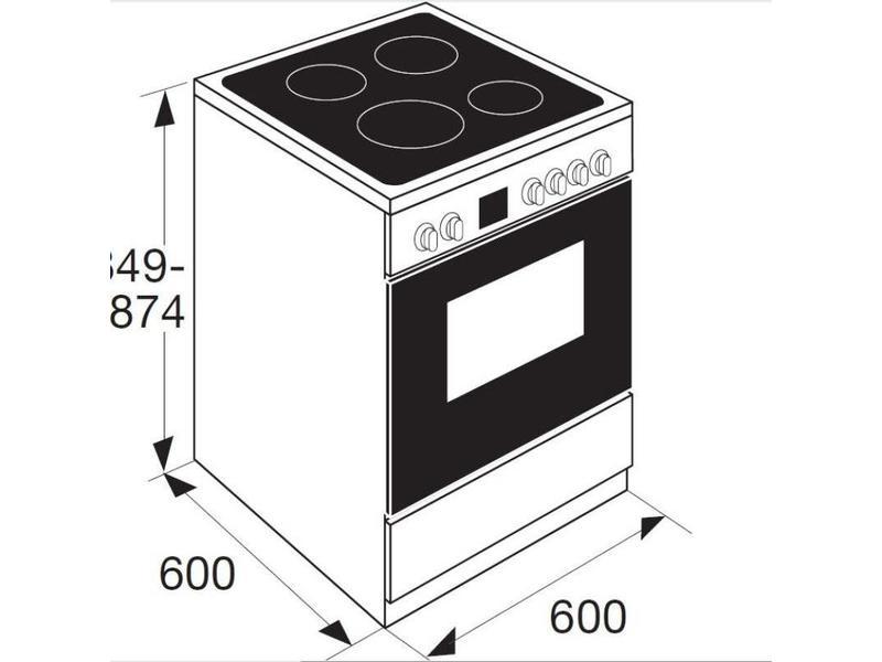 Etna FIV760RVS inductie fornuis