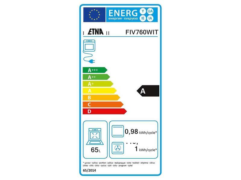 Etna FIV760WIT inductie fornuis
