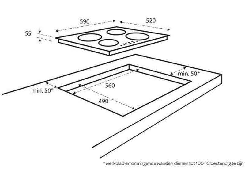 Inventum IKI6033 inductie-kookplaat 60cm