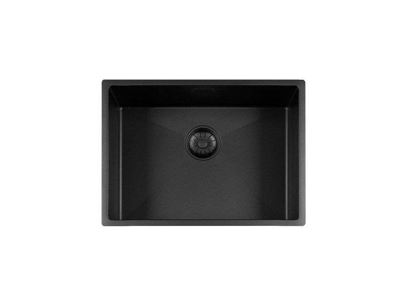 Lorreine 55R-CLR-BLACK-BLS spoelbak zwart