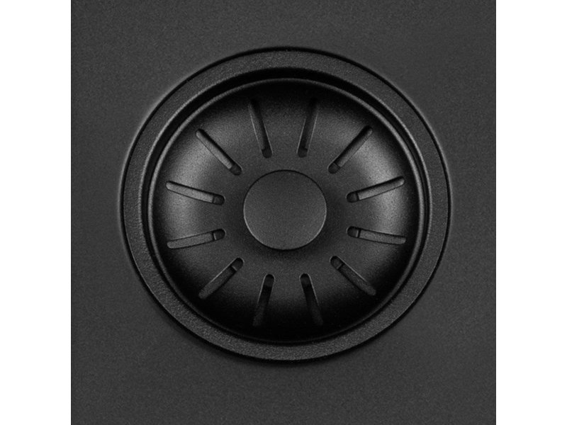 Lorreine 45R-CLR-BLACK-BLS spoelbak zwart