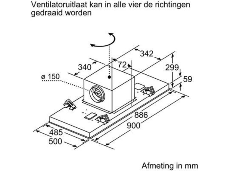Siemens LR97CBS25 plafondunit afzuigkap