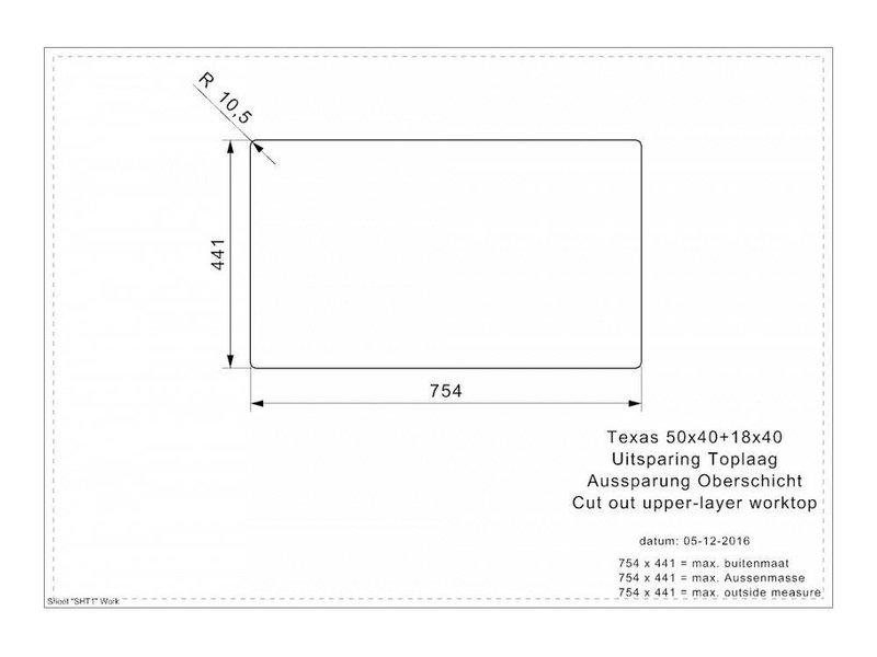 Reginox R28094 spoelbak Texas