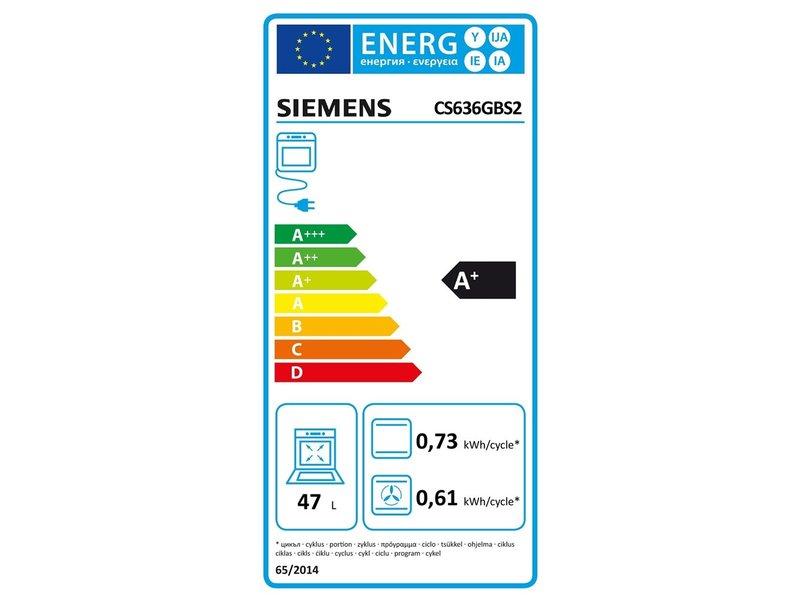 Siemens CS636GBS2 combi stoomoven