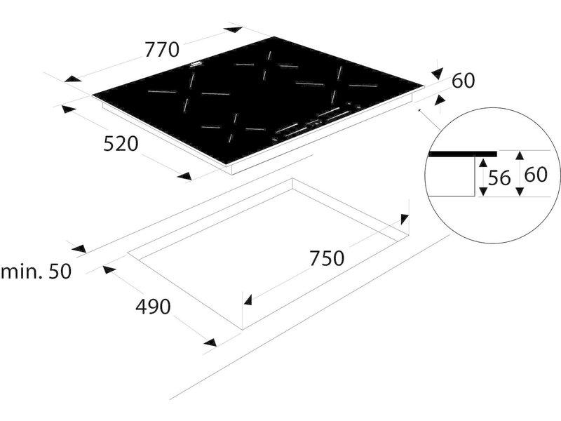 Etna KI577ZT inductie kookplaat
