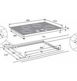 Atag HI8271SI inductie kookplaat 80cm