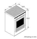 Bosch HLS59D350 vrijstaand inductiefornuis