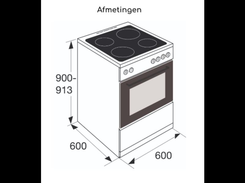 Pelgrim PFI7160RVS inductie fornuis