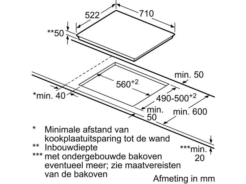 Siemens ED751FSB5E inductie kookplaat