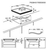 AEG IPE64551FB inductie kookplaat (Pure Black)