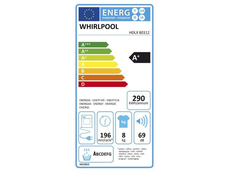 Whirlpool HDLX80312 warmtepompdroger