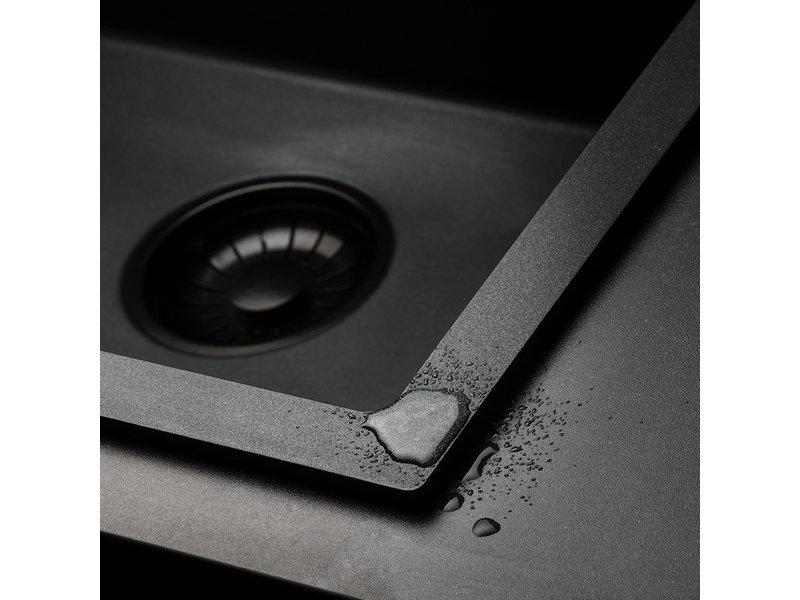 Caressi CAGRPP50BK-TU  spoelbak zwart