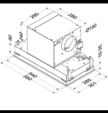 Novy 816 inbouw-unit afzuigkap