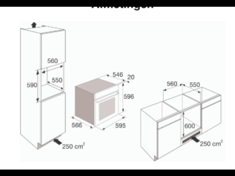 Etna MO670TI inbouw combi-magnetron nis 60cm
