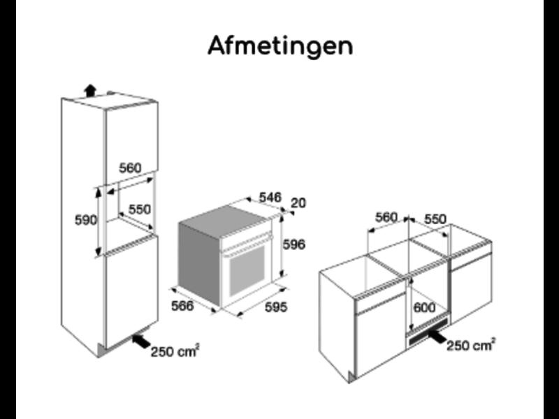 Pelgrim COM316GLS combi-magnetron nis 60cm