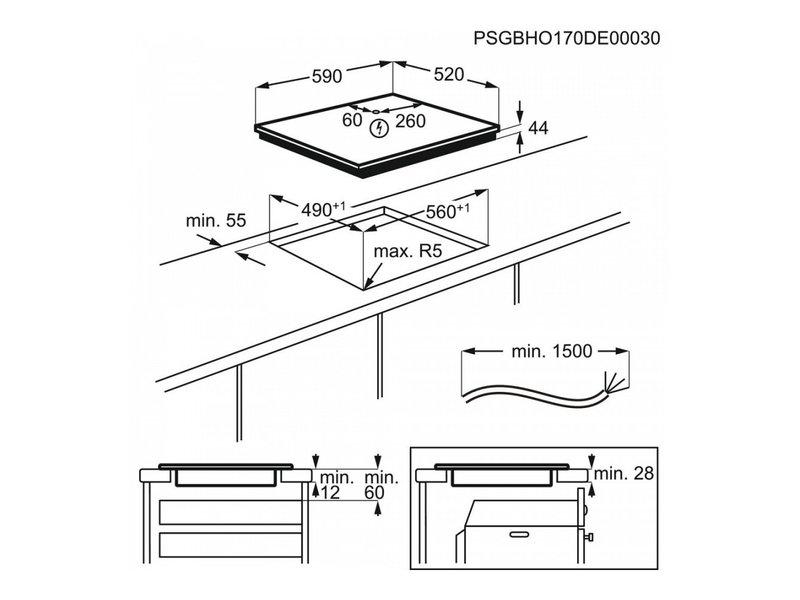 AEG IKE64450FB inductie kookplaat