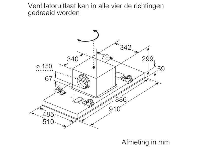 Bosch DRC99PS20 plafondunit afzuigkap