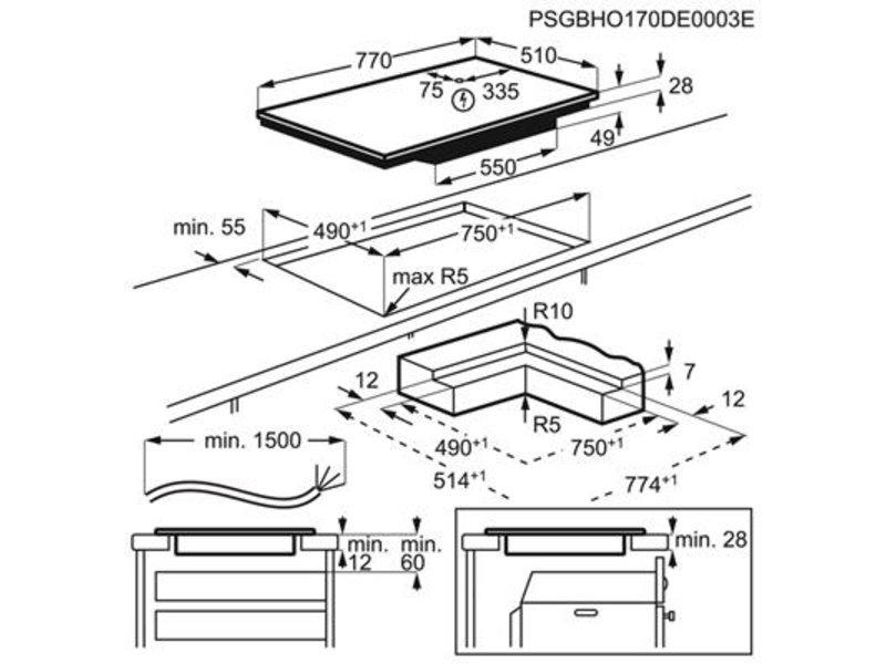 AEG IPE84531IB inductie kookplaat