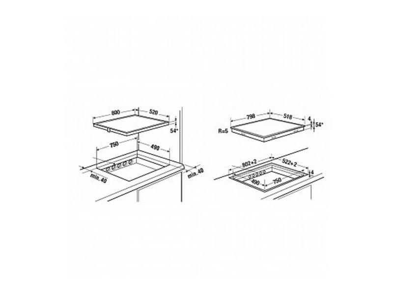 Küppersbusch KI88200SR inductie kookplaat