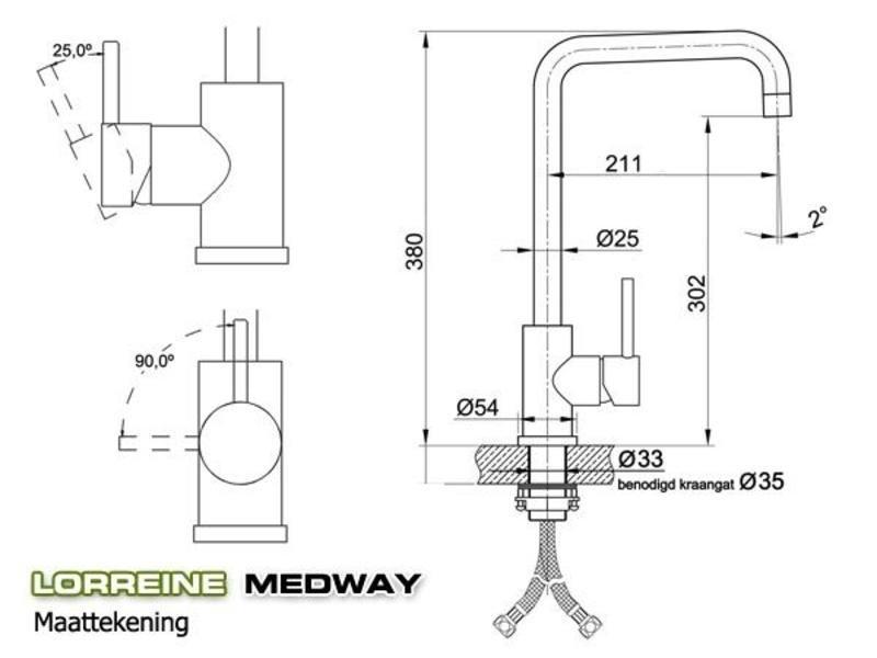 Lorreine Medway-Gold keukenkraan