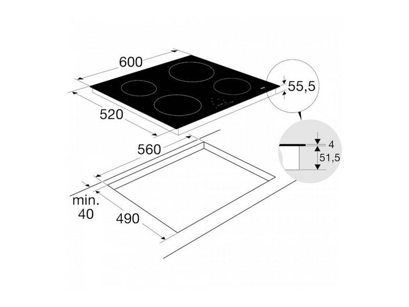 Atag HI06471EP inductie kookplaat