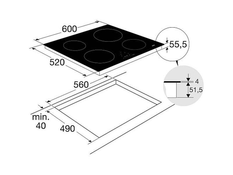 Atag HI06471E inductie kookplaat