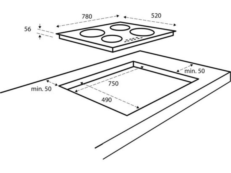 Inventum IKI7831 inductie kookplaat