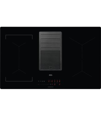 AEG IDE84243IB inductie kookplaat met afzuiging