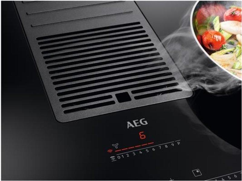 AEG IDK84454IB Inductie kookplaat met afzuiging