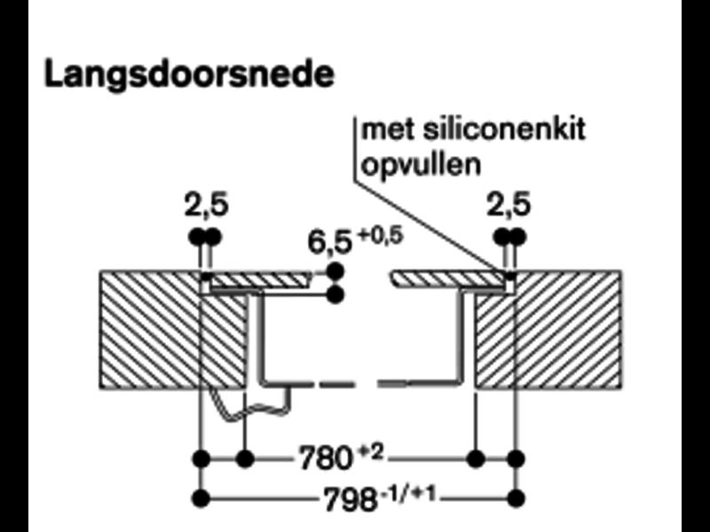 Gaggenau CV282101 kookplaat met afzuiging