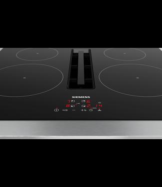 Siemens EH611BE15E inductie kookplaat met afzuiging