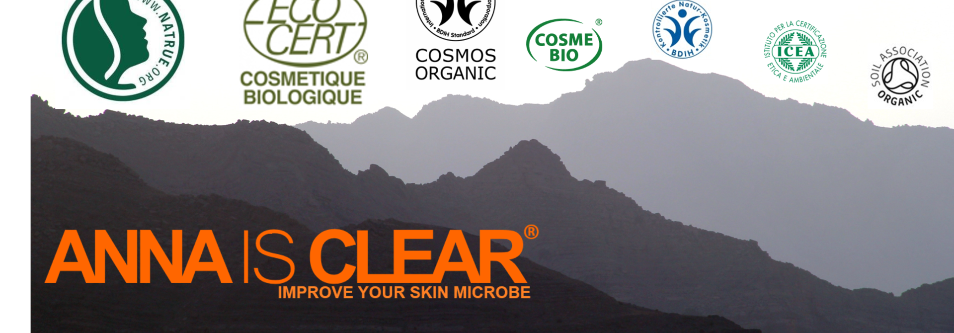 Natural based ingredients and organic cosmetic logo's