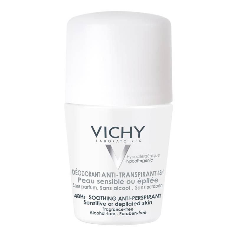 Image of Vichy Anti-transpiratie Deodorant 48u voor de gevoelige of geëpileerde huid - roller 50ml