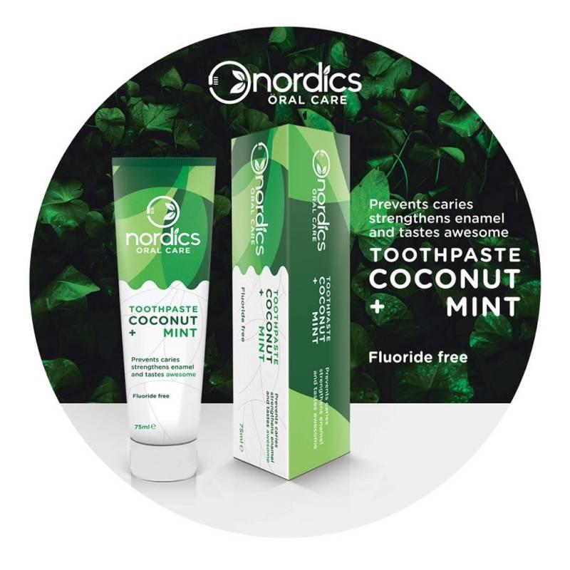 Nordics Nordics Tandpasta Coconut Mint Fluoride Vrij - 75ml