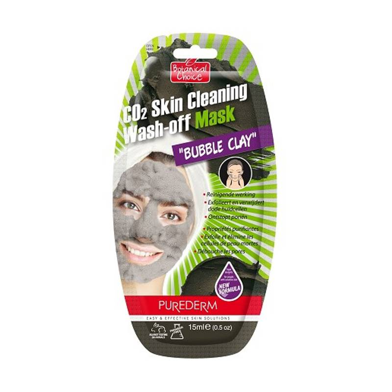 Image of PureDerm Skin Cleaning Bubble Clay Mask - 15ml