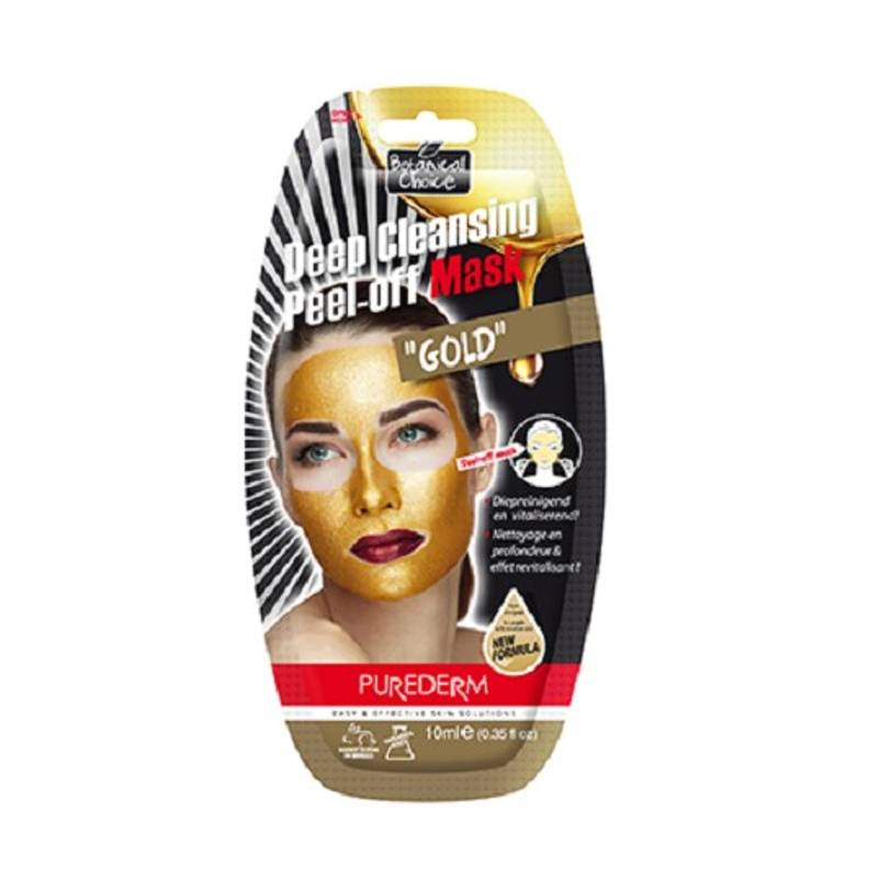 Image of PureDerm Deep Cleansing Peel-Off Gold Mask - 10ml