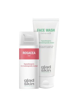 Gladskin Gladskin ROSACEA Gel Cleansing Set Small