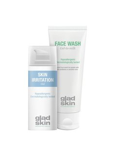 Gladskin Gladskin SHAVING IRRITATION Gel Cleansing Set Small