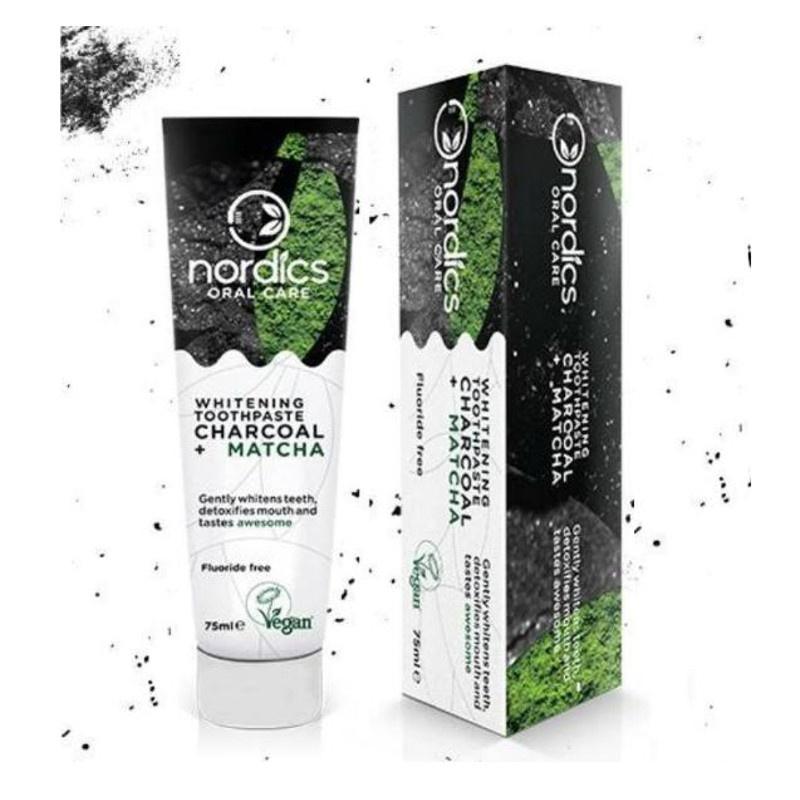 Image of Nordics Whitening Toothpaste Charcoal + Matcha - 75ml