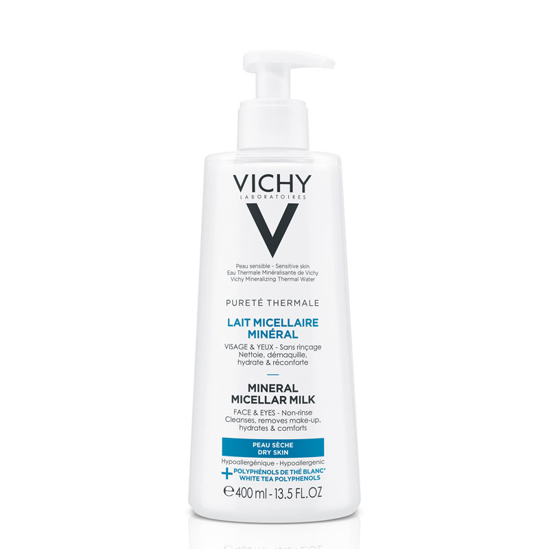 Image of Vichy Pureté Thermale Micellaire Reinigingsmelk Droge Huid - 400ml